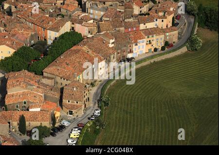 Francia, Var, intorno a Tourtour (vista aerea) Foto Stock