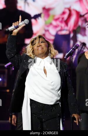 Il cantante Patti LaBelle esegue 'Call Me' durante la registrazione di 'Aretha! Una Celebrazione Grammy per la Regina dell'anima al Shrine Auditorium di Los Angeles, California, Stati Uniti, 13 gennaio 2019. Il concerto si esibisce in CBS il 10 marzo 2019. REUTERS/Mario Anzuoni Foto Stock