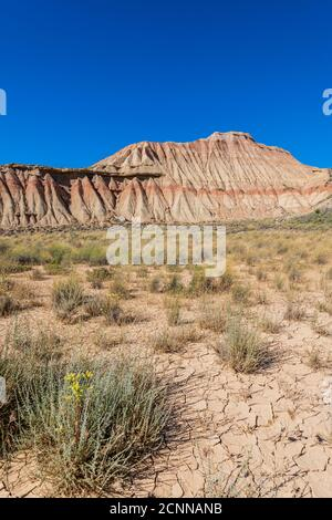 Formazioni rocciose, Bardenas Reales Badlands, Navarra, Spagna