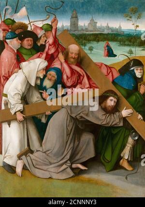 Cristo che porta la Croce, c.. 1500. Trovato nella collezione di Monasterio de El Escorial. Foto Stock