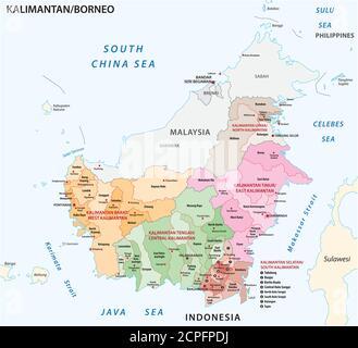 Cartina Indonesia Dettagliata.Dettaglio Mappa Vettoriale Di Indonesia E La Citta Capitale Giacarta Immagine E Vettoriale Alamy
