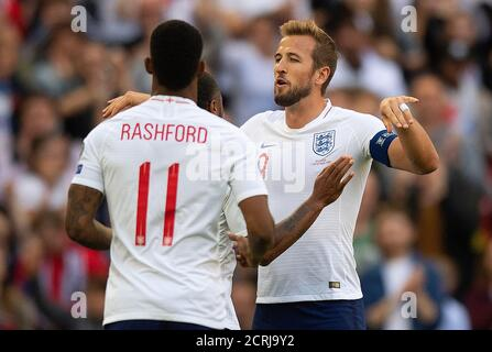Harry Kane dell'Inghilterra celebra il punteggio per l'Inghilterra PHOTO CREDIT : © MARK PAIN / ALAMY STOCK PHOTO