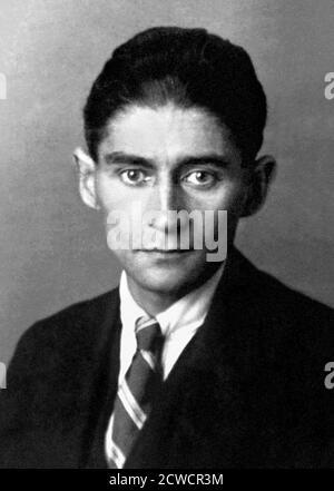 Franz Kafka (1883-1924), ritratto dello scrittore boemo, 1923