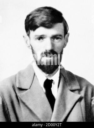 D. H. Lawrence. Ritratto dello scrittore e poeta inglese David Herbert Lawrence (1885-1930)