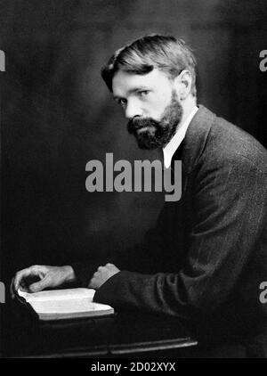 D. H. Lawrence/DH Lawrence. Ritratto dello scrittore e poeta inglese David Herbert Lawrence (1885-1930), c.1915