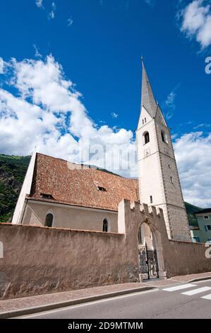Chiesa parrocchiale di SS Pietro e Paolo, Laces, Val Venosta (Vinschgau), Bolzano, Trentino-Alto Adige, Italia