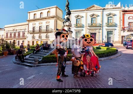 Plaza de la Paz durante le celebrazioni del giorno dei morti, Guanajuato, Messico Foto Stock