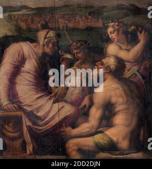 Giorgio Vasari - Allegoria di San Giovanni Valdarno Foto Stock