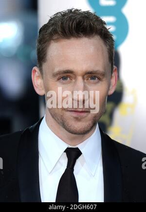 Tom Hiddleston arriva all'EE British Academy Film Awards 2013, The Royal Opera House, Londra.