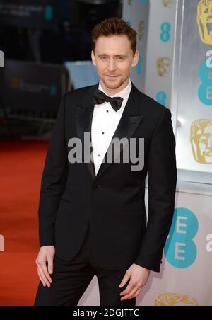 Tom Hiddleston partecipa all'EE British Academy Film Awards 2015 che si tiene alla Royal Opera House di Covent Garden, Londra UK.