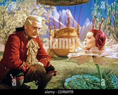 Münchhausen 1943 produzione di film Universum con Hans Albers nel Titolo ruolo qui incontro la Regina della Luna giocata da Marianna Simson