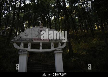 Hindu Lord Shiva Mukteshwar Tempio situato nel distretto di Nainital Uttarakhand stato. Famoso per Himalaya View e Lord Shiva