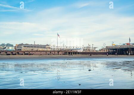Pismo Beach, California/USA - 1 gennaio 2021 Pismo Beach, incantevole cittadina sulla costa della California centrale Foto Stock
