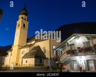 La chiesa di canale d'Agordo in Val Biois . Europa, Europa centrale, Italia
