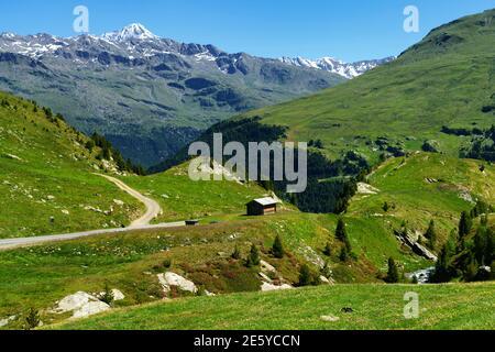 Passo Gavia, provincia di Sondrio, Lombardia, Italia: Paesaggio lungo il valico estivo