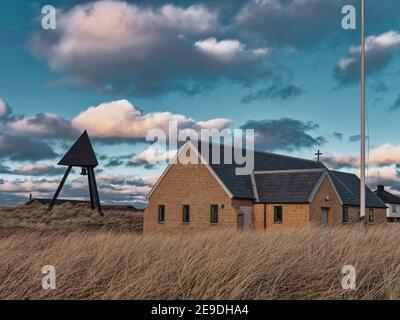 Lildstrand piccola chiesa nella tua Danimarca rurale
