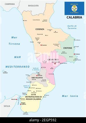 Reggio Calabria Cartina Geografica.Mappa Della Provincia Di Reggio Calabria Immagine E Vettoriale Alamy