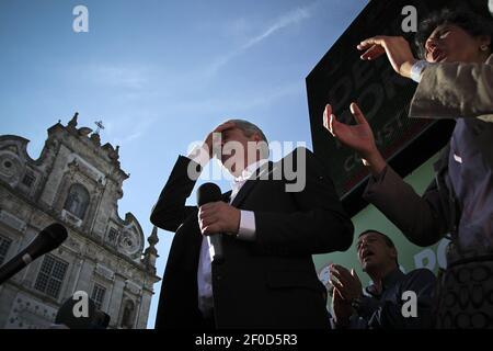 Foto d'archivio dell'ex primo ministro socialista portoghese, José Socrates, il 31 maggio 2011. Jose Socrates è stato inviato in carcere, il 25 novembre 2014, in caso di frode, di fronte a accuse di corruzione, riciclaggio di denaro e frode fiscale, dopo tre giorni di interrogatorio da parte del giudice. Foto di Pedro Nunes/Sipa USA