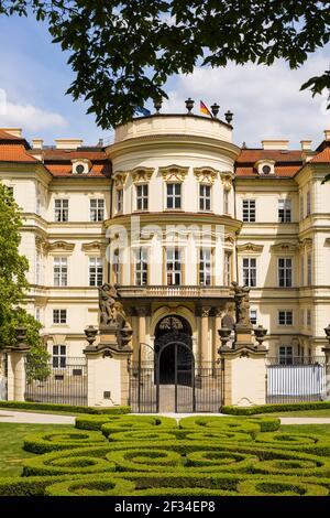 Geografia / viaggio, Repubblica Ceca, Boemia, retro l'ambasciata tedesca con Gartengelaende, Palais Lobkowitz, Praga, Repubblica Ceca, CZE, Libertà di panorama