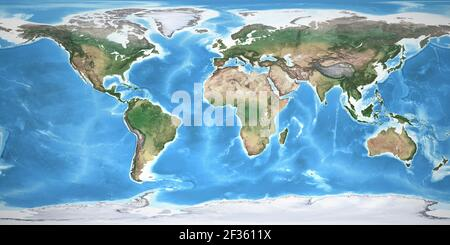 Cartina Mondo Alta Risoluzione.Cartina Fisica Del Mondo Foto Stock Alamy