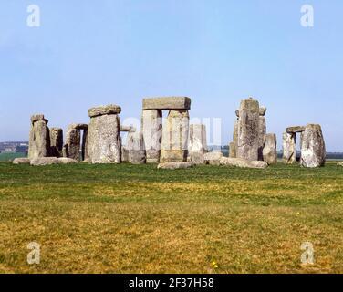 Stonehenge monumento preistorico, Amesbury, Wiltshire, Inghilterra, Regno Unito