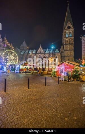 Geografia / viaggio, Germania, Brema, mercatino di Natale di sera, diritti aggiuntivi-clearance-Info-non-disponibile
