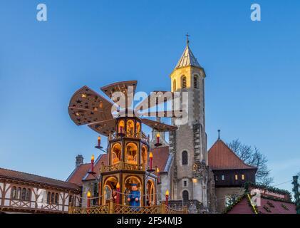 Geografia / viaggio, Germania, bassa Sassonia, Brunswick, mercatino di Natale di sera, diritti aggiuntivi-clearance-Info-non-disponibile