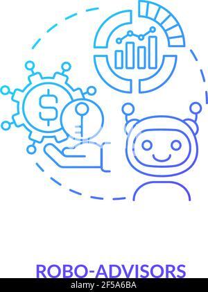 Icona del concetto di Robo-ADVISOR Foto Stock