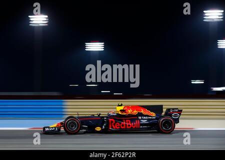 VERSTAPPEN Max (Ned) Red Bull Tag Heuer RB13 azione durante il campionato mondiale di Formula 1 FIA 2017, Gran Premio del Bahrain, a Sakhir dal 13 al 16 aprile - Foto Florent Gooden / DPPI