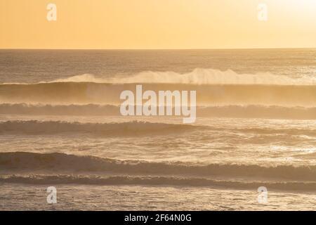 La spiaggia di Carcans, vicino a Lacanau, sulla costa atlantica francese Foto Stock