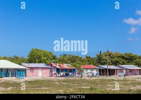 Repubblica Dominicana, Punta Cana, Parque Nacional del Este, l'isola di Saona, Mano Juan, un pittoresco villaggio di pescatori