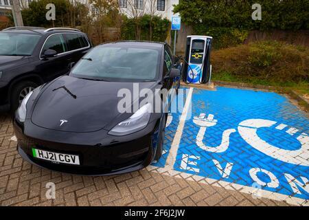 Elettrico,Auto,Tesla,modello,3,ricarica,BPpolare, Regno Unito,