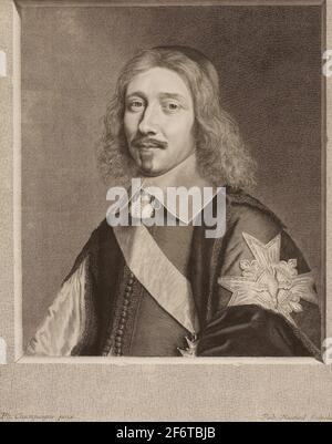 Autore: Robert Nanteuil. Le Chancelier le Tellier - 1653 - Robert Nanteuil (francese, 1623-1678) dopo Philippe de Champaigne (francese, 1602-1674).