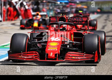 Charles Leclerc (MON) Ferrari SF-21. Gran Premio Emilia Romagna, sabato 17 aprile 2021. Imola, Italia.