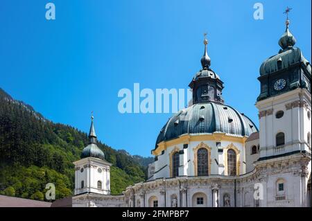 Ettal, Germania , Lander bavarese, la facciata e la cupola del Monastero