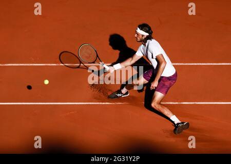 Parigi, Francia. 13 giugno 2021. Stefanos Tsitsipas dalla Grecia al torneo di tennis Open Grand Slam 2021 a Roland Garros, Parigi, Francia. Frank Molter/Alamy Notizie dal vivo