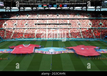 BUDAPEST, UNGHERIA - GIUGNO 15: Cerimonia di apertura prima della partita del Campionato Euro 2020 Gruppo F tra Ungheria e Portogallo il 15 giugno 2021 a Budapest, Ungheria. (Foto di MB Media)