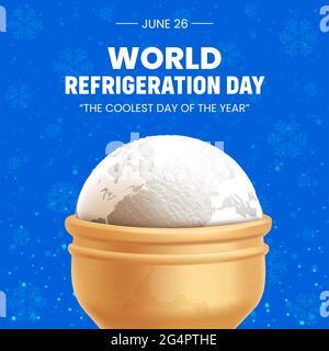 Vector Illustration of World Refrigeration Day Celebration Banner.