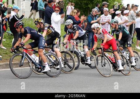 Redon, Fougeres, Francia, 29/06/2021, Richie Porte di INEOS Grenadiers durante il Tour de France 2021, gara ciclistica fase 4, Redon - Fougeres (150,4 km) il 29 giugno 2021 a Fougeres, Francia - Foto Laurent Lairys / DPPI