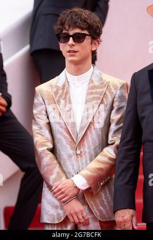 """Timotee Chalamet partecipa alla prima di """"The Fench Dispatch"""" durante il 74a edizione del Festival del Cinema di Cannes, in Francia, il 12 luglio 2021."""