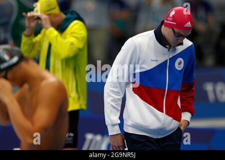 Tokyo, Giappone. 27 luglio 2021. Kliment KOLESNIKOV (ROC), nuoto 100m backstroke uomini, nuoto 100m backstroke finale al Centro di Tokyo 07/27/2021 Olimpiadi estive 2020, 07/23/2020 - 08.08.2021 a Tokyo/Giappone. Credit: dpa/Alamy Live News