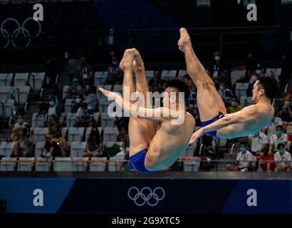 Centro di ginnastica Arlake, Tokyo, Giappone. 27 luglio 2021. Womens Team Ginnastica artistica, 4° giorno dei Giochi Olimpici estivi di Tokyo 2020; Team Japan Divers Sakai e Terauchi Credit: Action Plus Sports/Alamy Live News