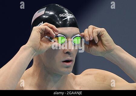 Tokyo, Giappone. 30 luglio 2021. Il Ryan Murphy degli Stati Uniti è visto nella finale maschile di 200m di backstroke durante l'evento di nuoto ai Giochi Olimpici estivi 2020, al Tokyo Aquatics Center. Credit: Stanislav Krasilnikov/TASS/Alamy Live News