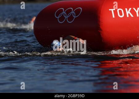 KYNIGAKIS Athanasios (GRE), 5 AGOSTO 2021 - Maratona Nuoto : uomini 10 km durante i Giochi Olimpici di Tokyo 2020 al Parco Marino Odaiba a Tokyo, Giappone. Credit: AFLO SPORT/Alamy Live News