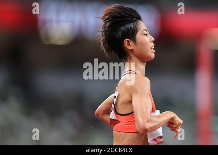 Tokyo, Giappone. 7 agosto 2021. Ririka Hironaka (JPN) Atletica : finale femminile di 10000 m durante i Giochi Olimpici di Tokyo 2020 allo Stadio Nazionale di Tokyo, Giappone . Credit: AFLO SPORT/Alamy Live News