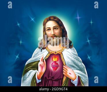 Tendenze nuove belle arti di pittura di Gesù