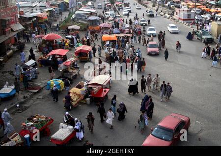 Kabul, Afghanistan. 20 ago 2021. Foto scattata il 20 agosto 2021 mostra una vista a Kabul, Afghanistan. Credit: Saifurahman Safi/Xinhua/Alamy Live News