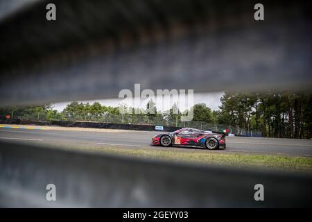85 Frey Rahel (swi), Gatting Michelle (dnk), Bovy Sarah (bel), Iron Lynx, Ferrari 488 GTE Evo, in azione durante la 24 ore di le Mans 2021, 4° round del FIA World Endurance Championship 2021, FIA WEC, sul circuito della Sarthe, dal 21 al 22 agosto, 2021 a le Mans, Francia - Foto Xavi Bonilla / DPPI
