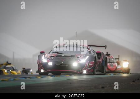 85 Frey Rahel (swi), Gatting Michelle (dnk), Bovy Sarah (bel), Iron Lynx, Ferrari 488 GTE Evo, in azione durante la 24 ore di le Mans 2021, 4° round del FIA World Endurance Championship 2021, FIA WEC, sul circuito della Sarthe, dal 21 al 22 agosto, 2021 a le Mans, Francia - Foto Frederic le Floc'h / DPPI