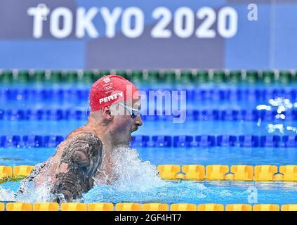 Tokyo, Giappone. 24 luglio 2021. Nuoto. Centro Acquatico di Tokyo. 2-1, 2 chome. Tatsumi. Koto-ku. Tokyo. Adam Peaty (GBR) si qualifica per le semifinali Mens 100m breatstroke. Credit: Sport in immagini/Alamy Live News